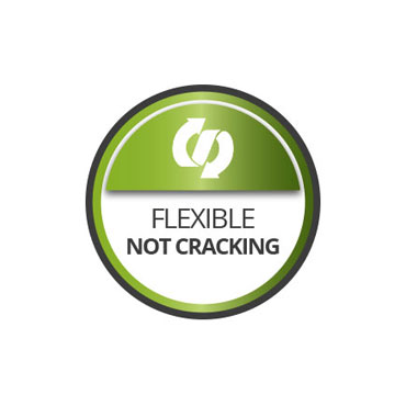 Flexible. Not cracking
