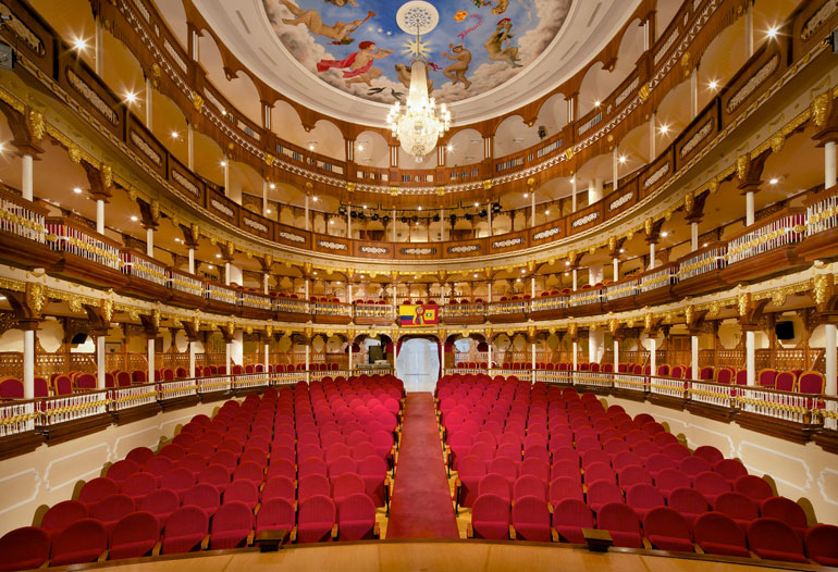 Graphenstone restoration of the Heredia Theather in Colombia